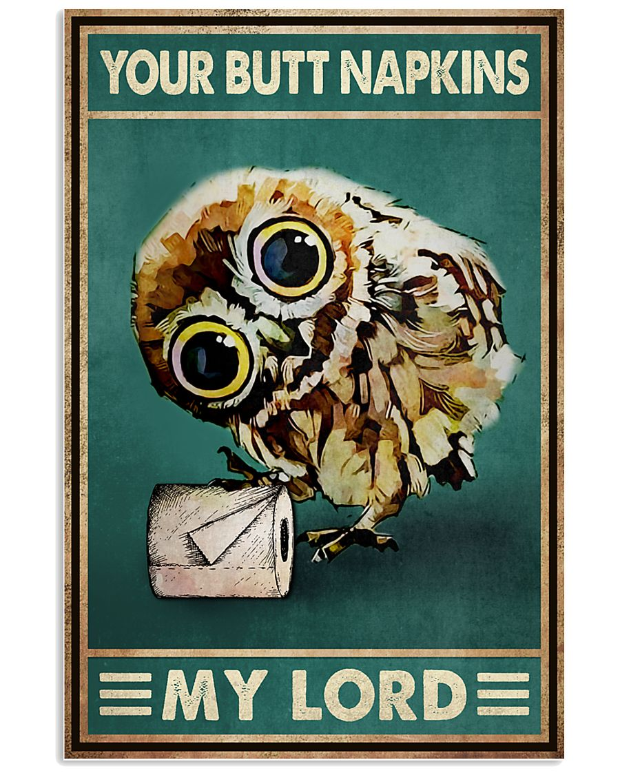 owl your butt napkins my lord vintage poster 1