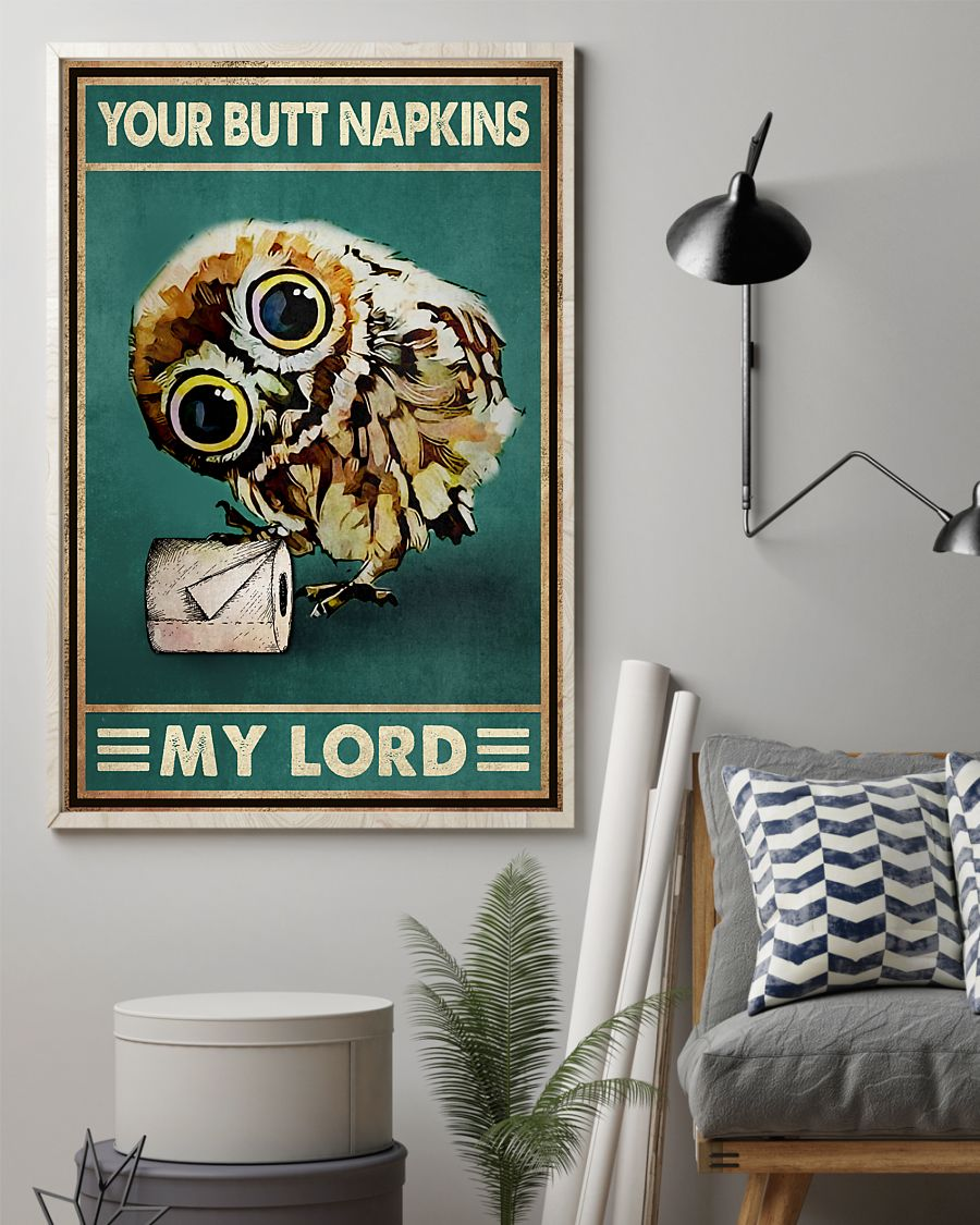owl your butt napkins my lord vintage poster 2