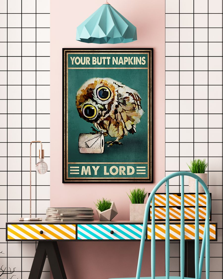 owl your butt napkins my lord vintage poster 4