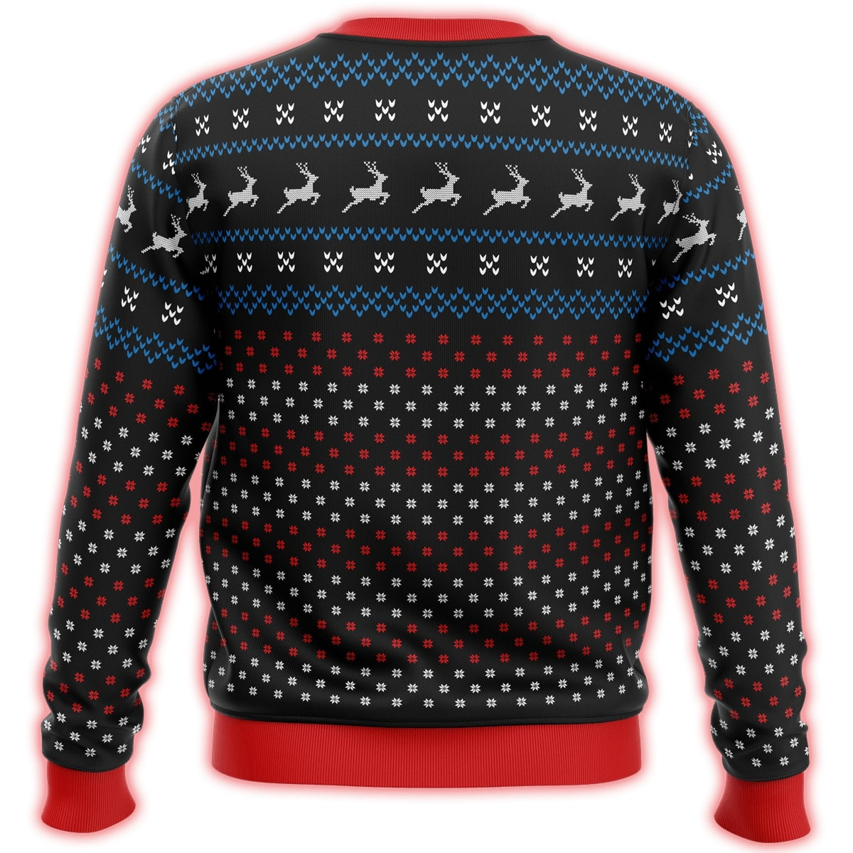 patriotic eagle all over print ugly christmas sweater 5