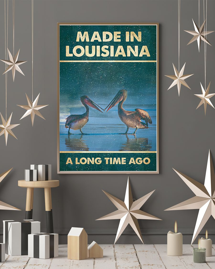pelicans made in louisiana a long time ago vintage poster 4