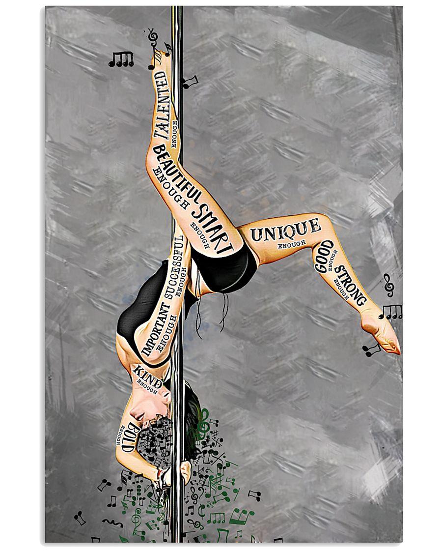 pole dance i am beautiful enough smart enough vintage poster