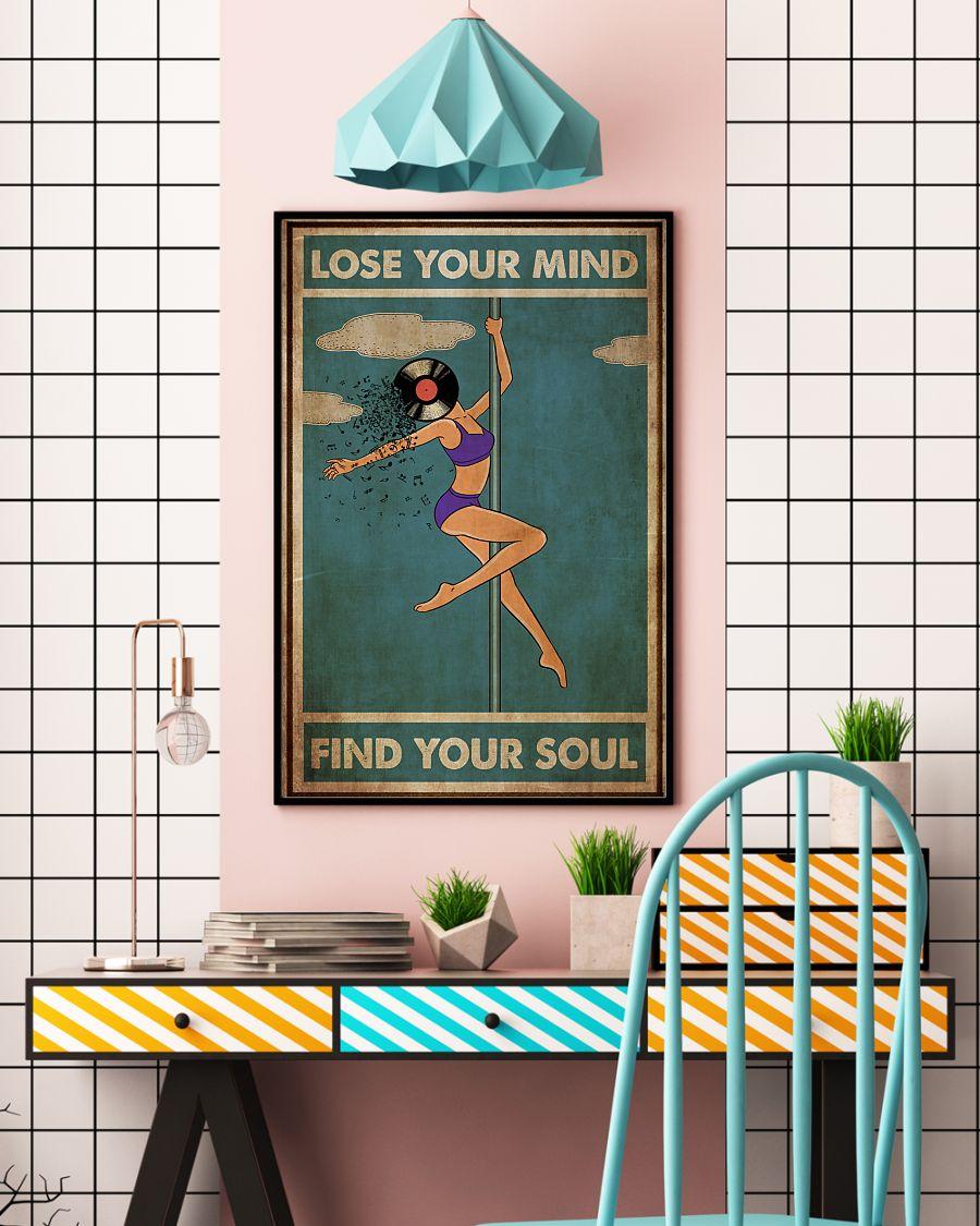 pole dance lose your mind and find your soul vinyl vintage poster 3