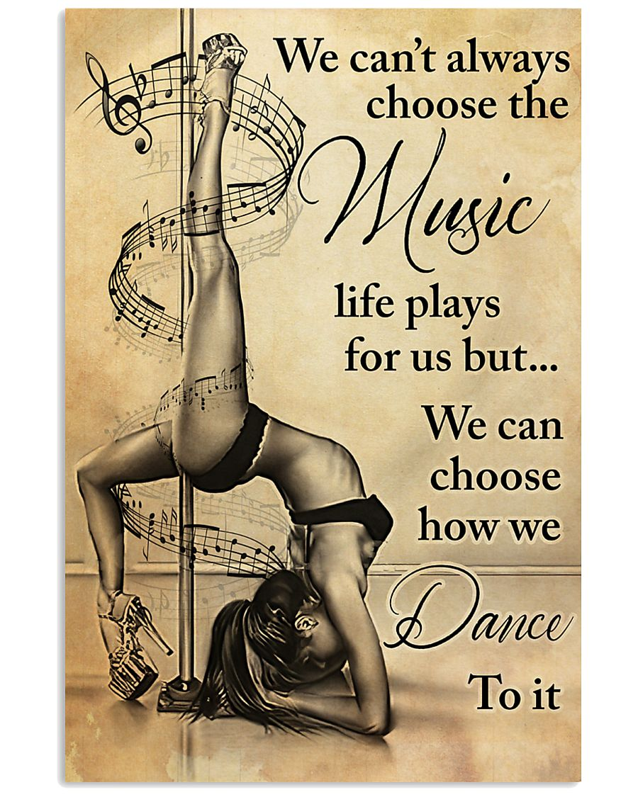 pole dance we cant always choose the music vintage poster 1