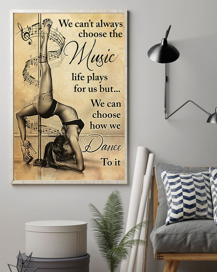 pole dance we cant always choose the music vintage poster 2