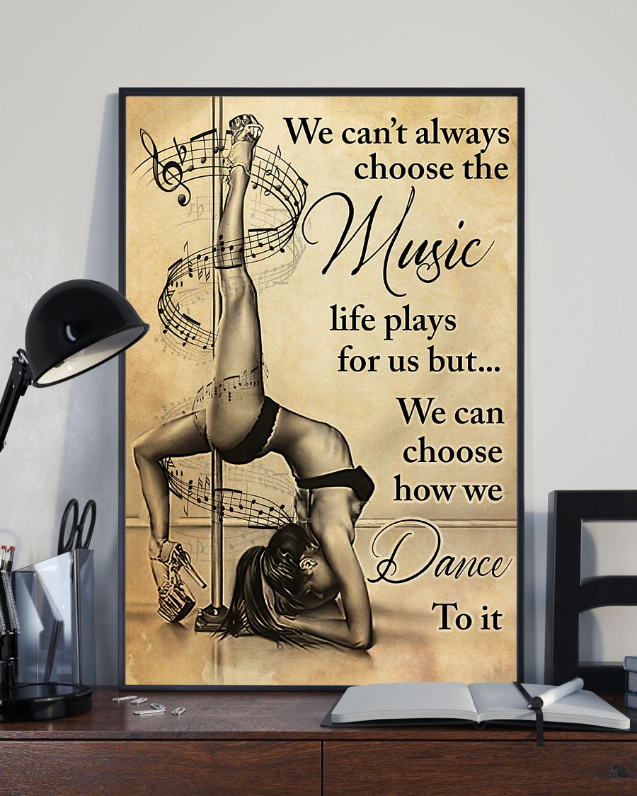 pole dance we cant always choose the music vintage poster 3