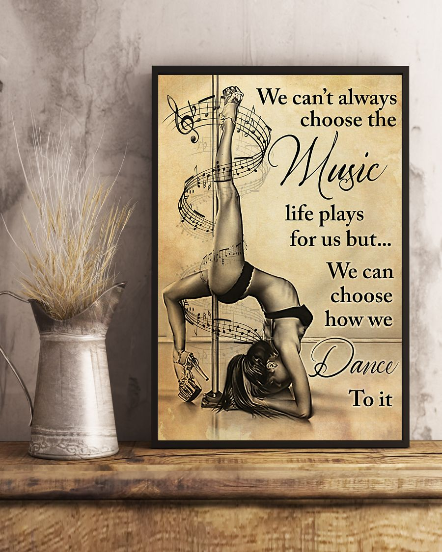 pole dance we cant always choose the music vintage poster 4