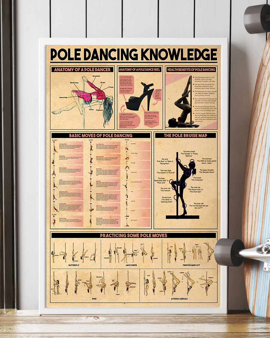 pole dancing knowledge vintage poster 2
