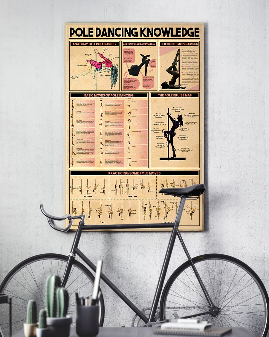pole dancing knowledge vintage poster 3