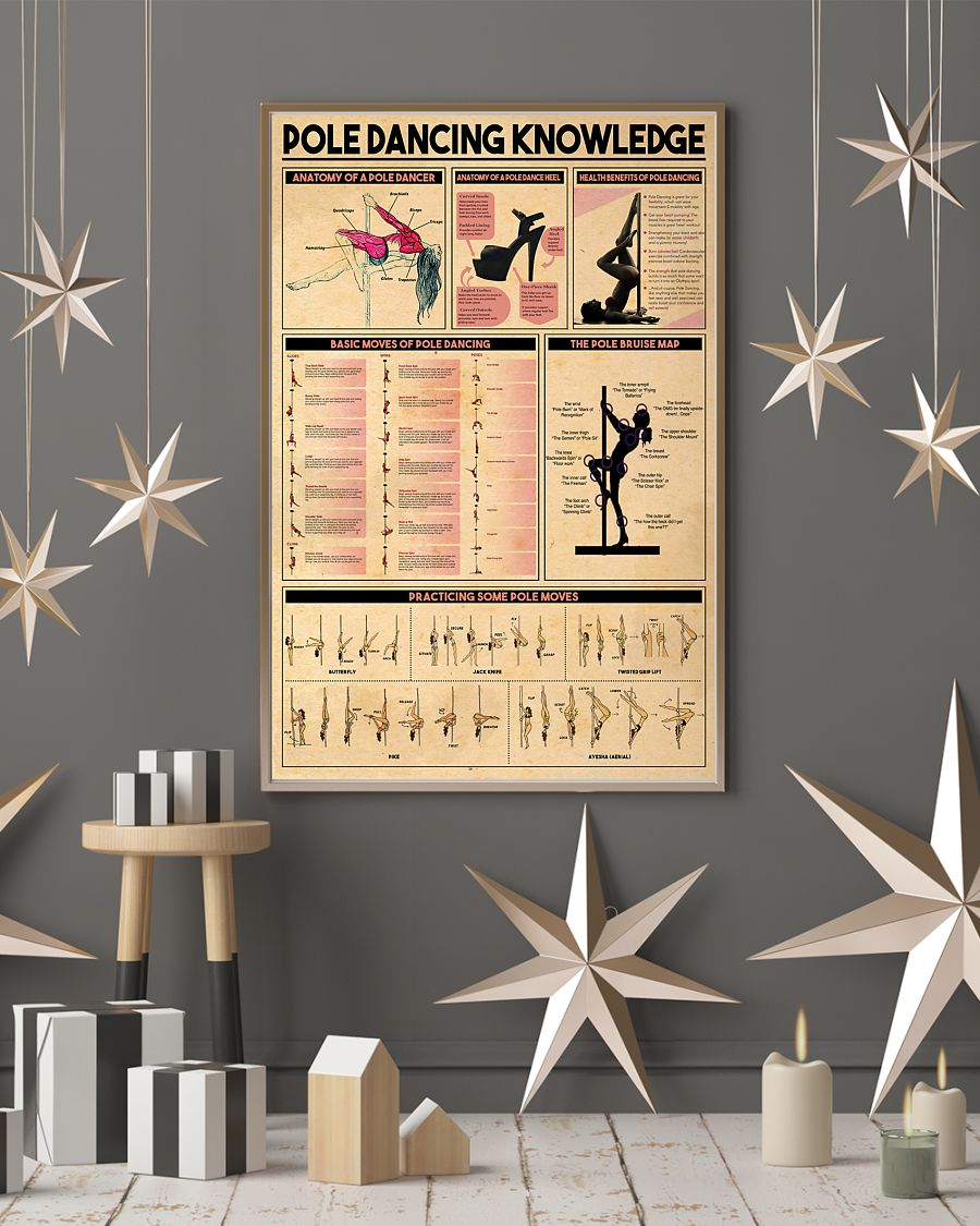 pole dancing knowledge vintage poster 4