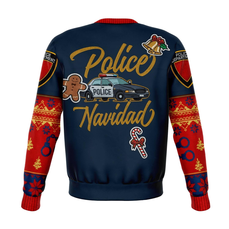police navidad all over print ugly christmas sweater 5