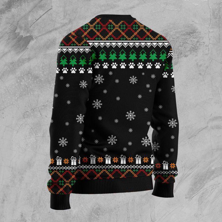 pomeranian red truck full printing christmas sweater 2