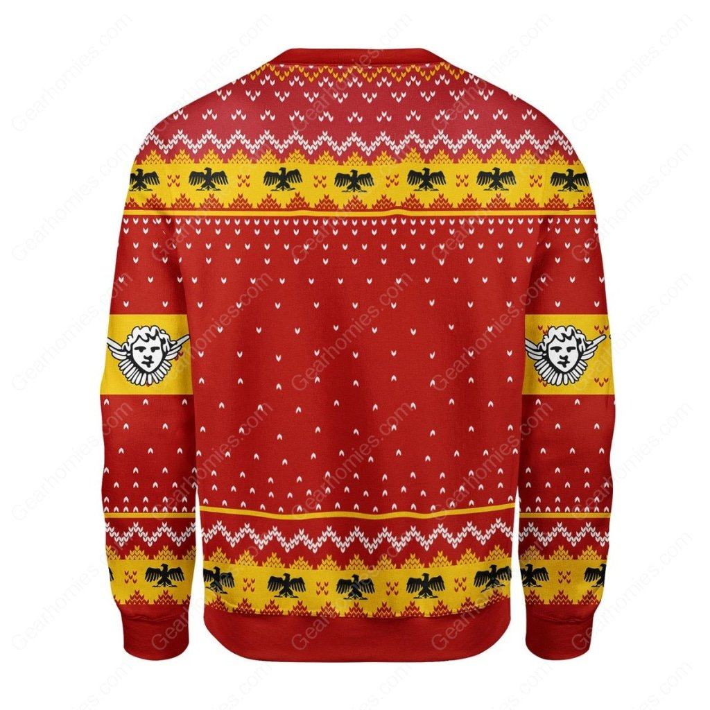 pope pius xi coat of arms all over printed ugly christmas sweater 4