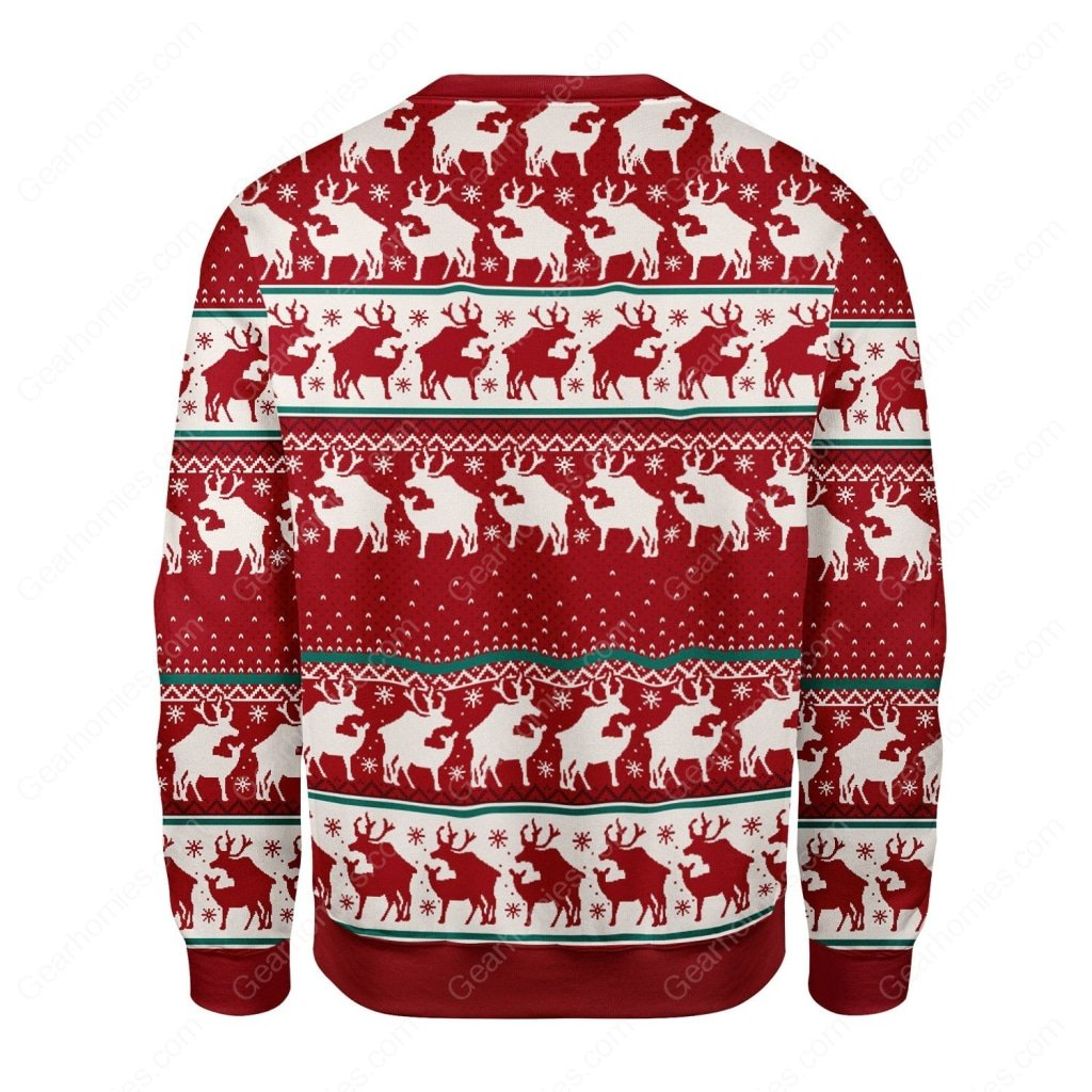 reindeer all over printed ugly christmas sweater 5