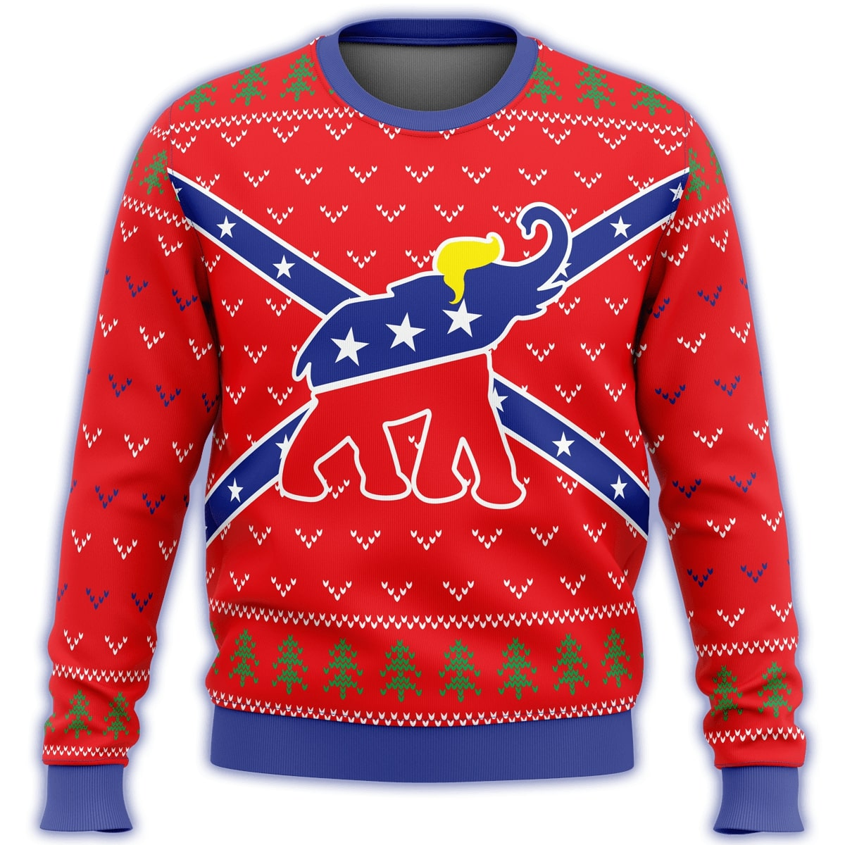 republican flag elephant all over printed ugly christmas sweater 2
