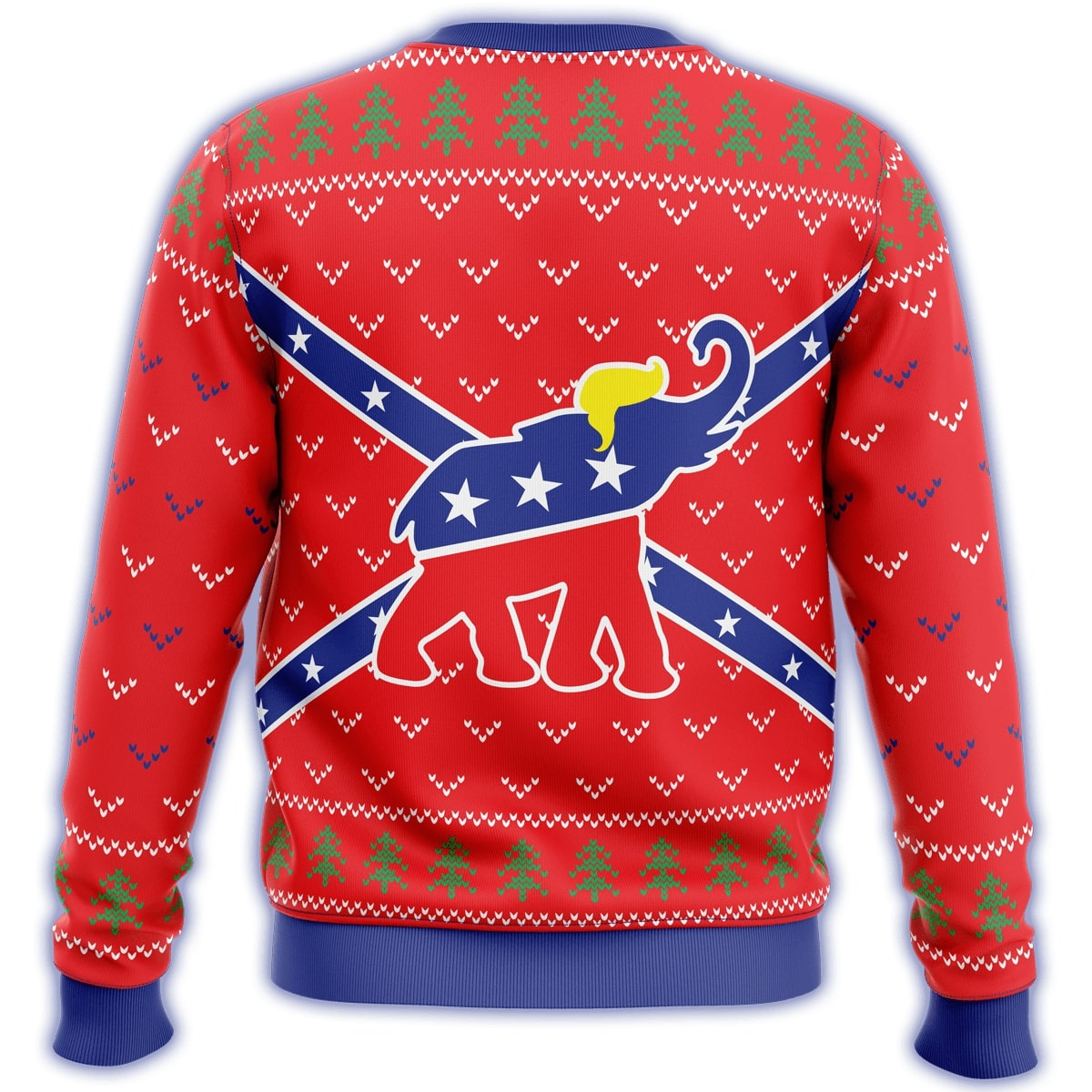 republican flag elephant all over printed ugly christmas sweater 4