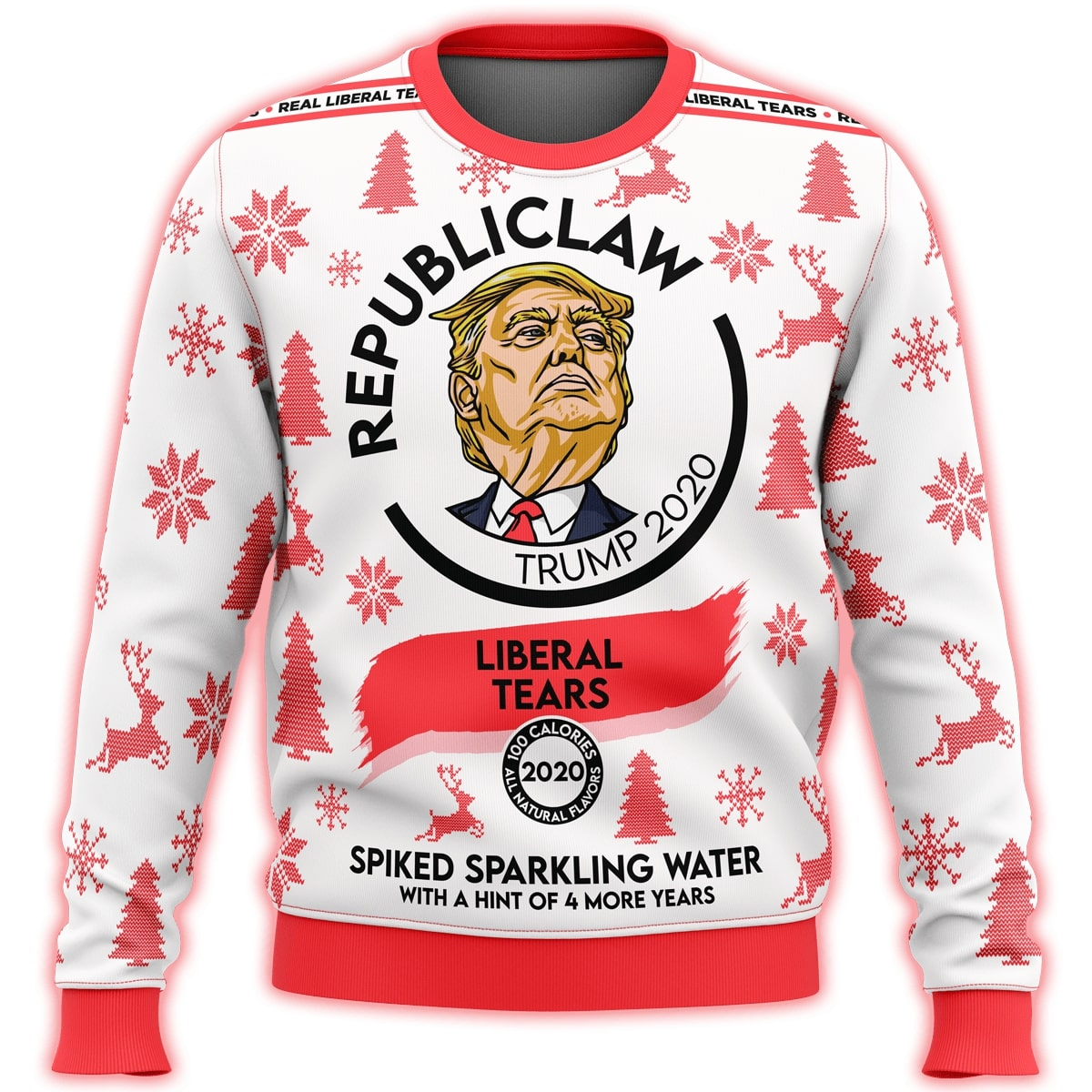 republiclaw liberal tears all over print ugly christmas sweater 3