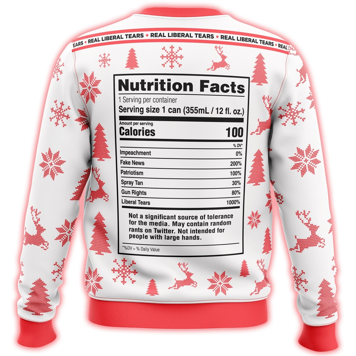 republiclaw liberal tears all over print ugly christmas sweater 4