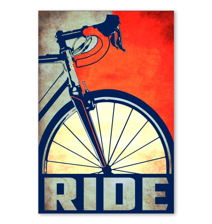 ride bicycle cycling vintage poster 1
