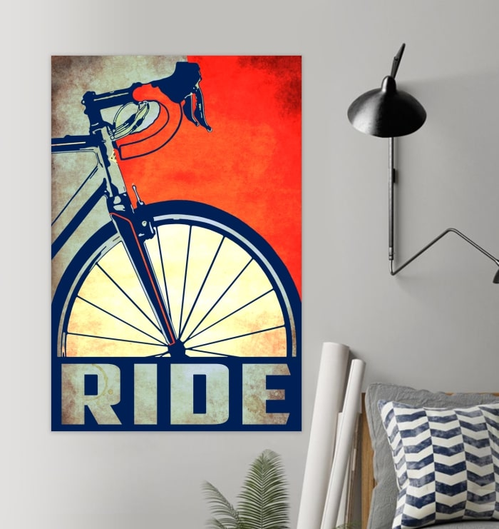 ride bicycle cycling vintage poster 2