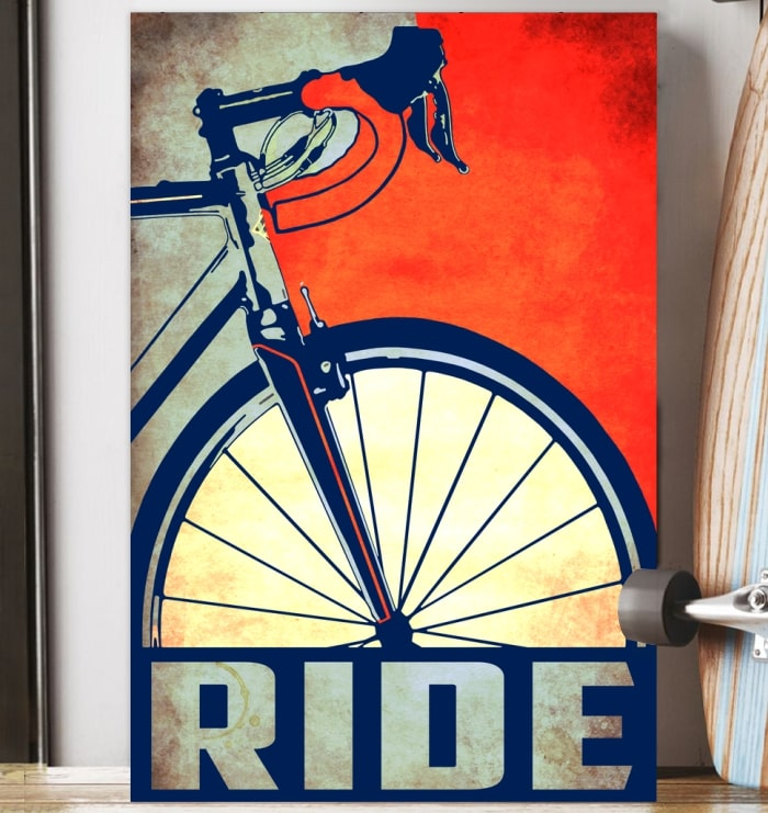 ride bicycle cycling vintage poster 3