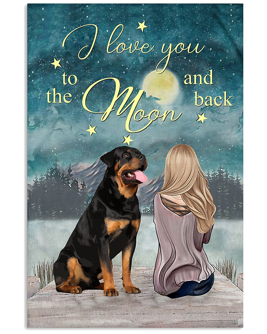 rottweiler i love you to the moon and back poster 1