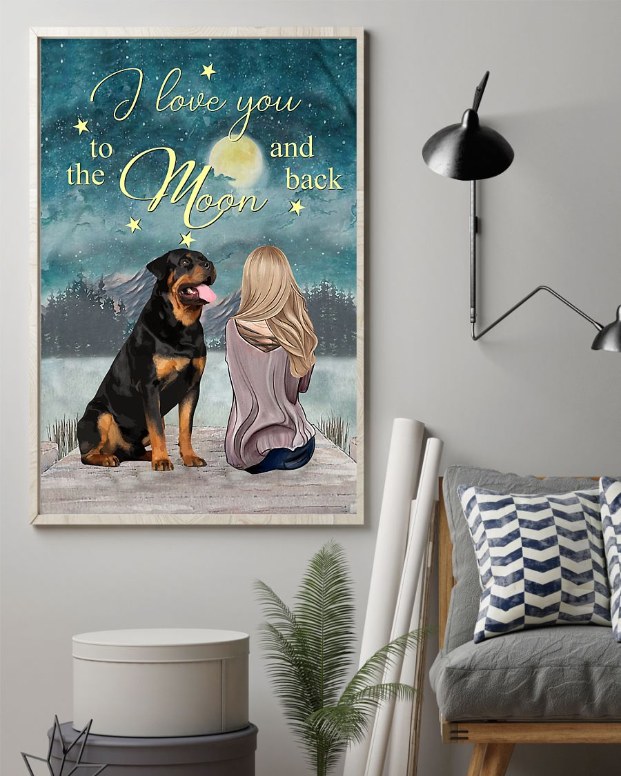 rottweiler i love you to the moon and back poster 2