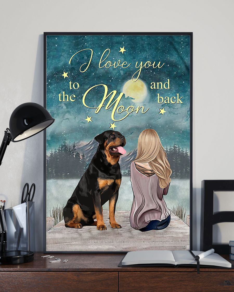 rottweiler i love you to the moon and back poster 3