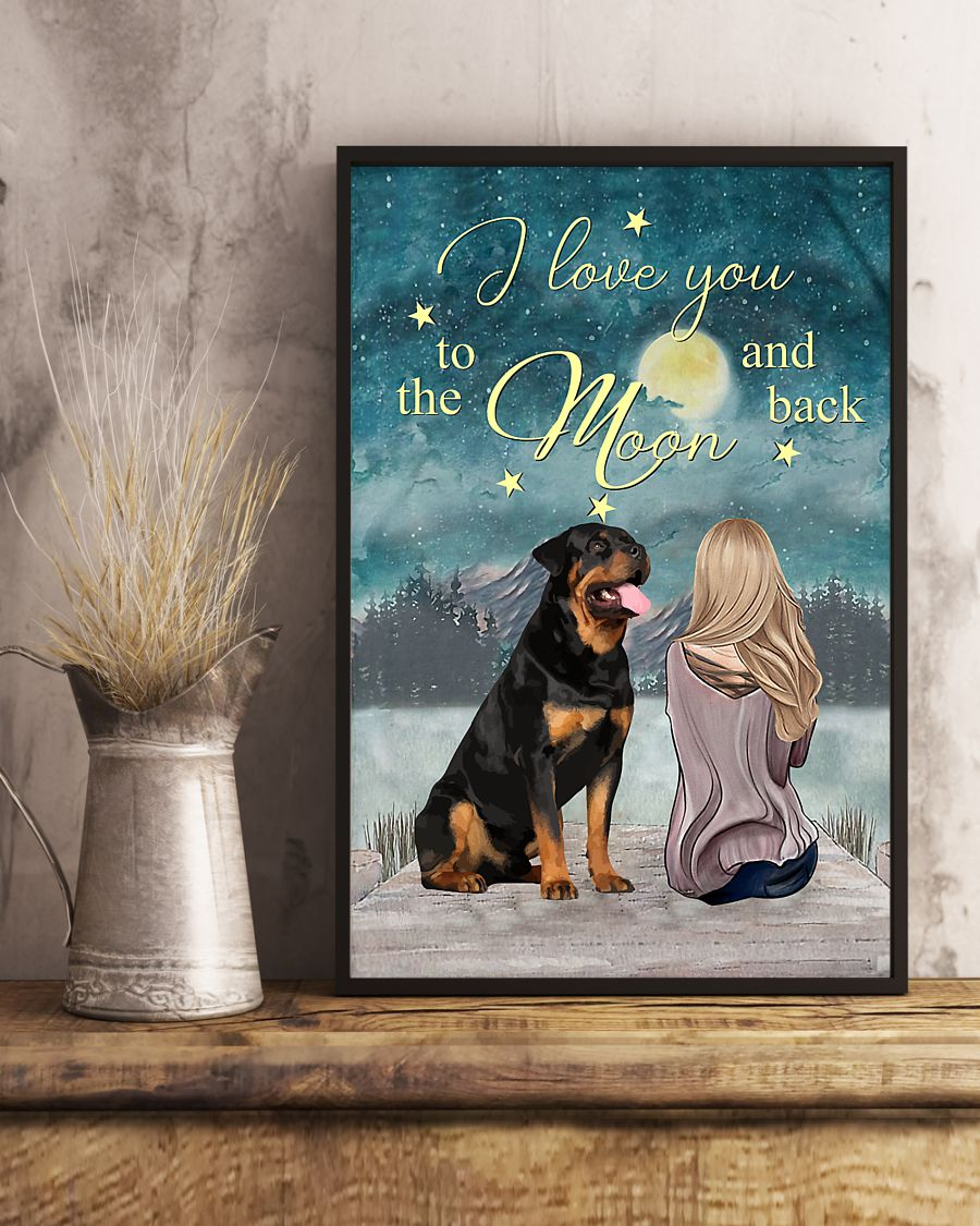rottweiler i love you to the moon and back poster 4