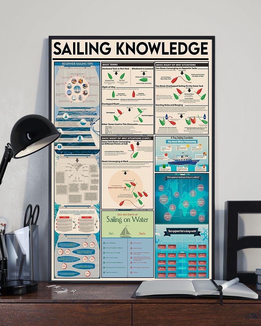 sailor sailing knowledge vintage poster 2