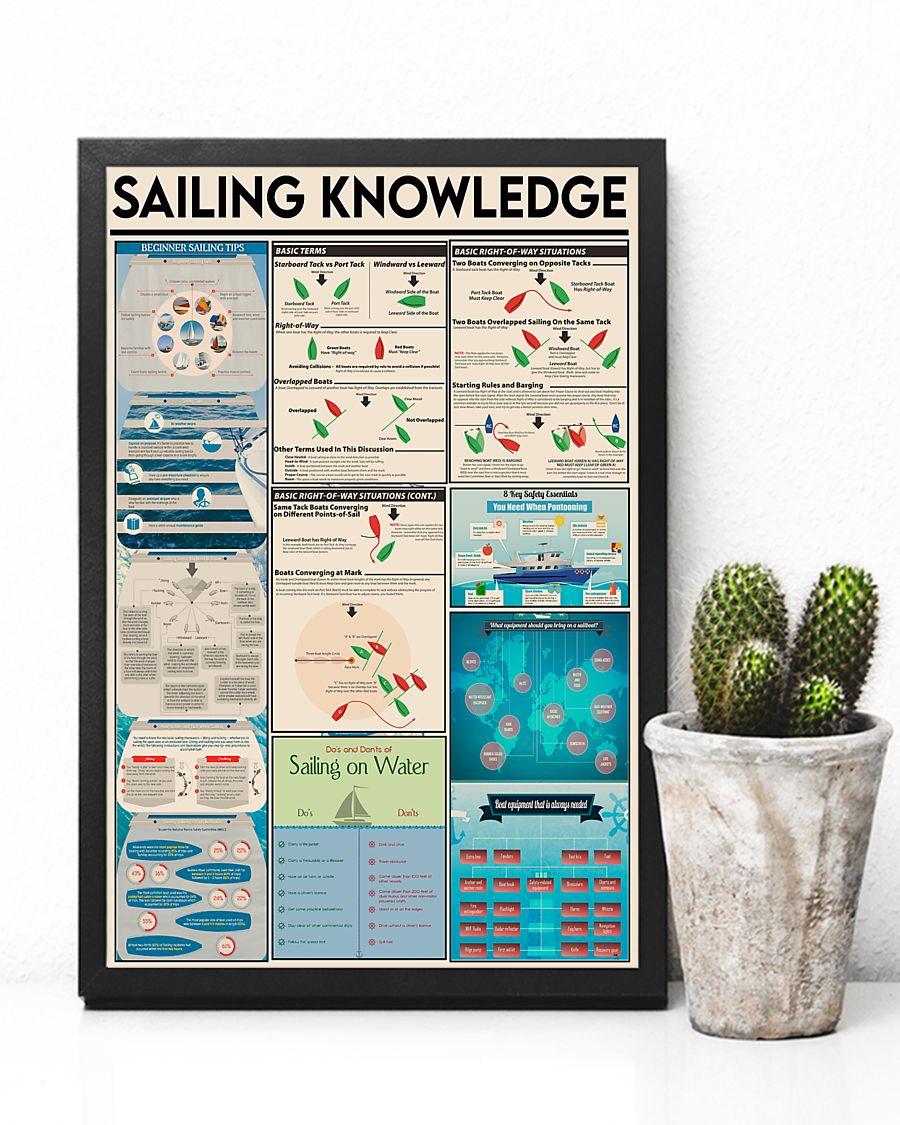 sailor sailing knowledge vintage poster 3