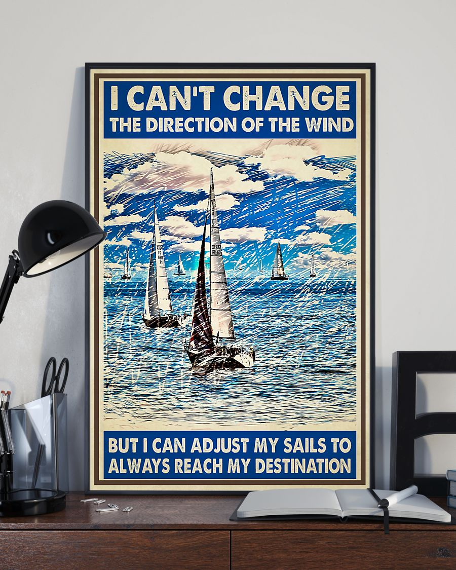 sails sailor i cant change the direction of the wind vintage poster 4