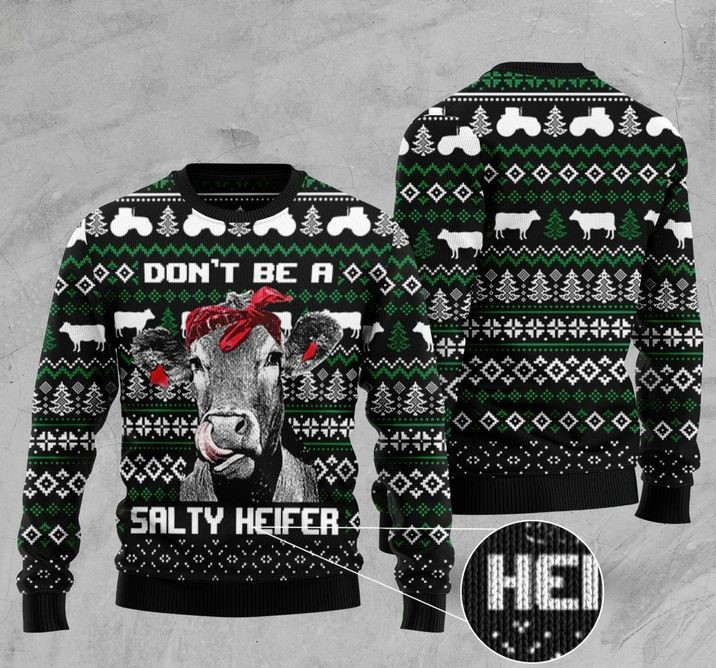 salty heifer full printing christmas sweater 2