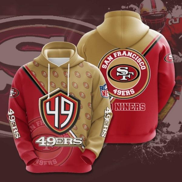 san francisco 49ers symbol full printing hoodie