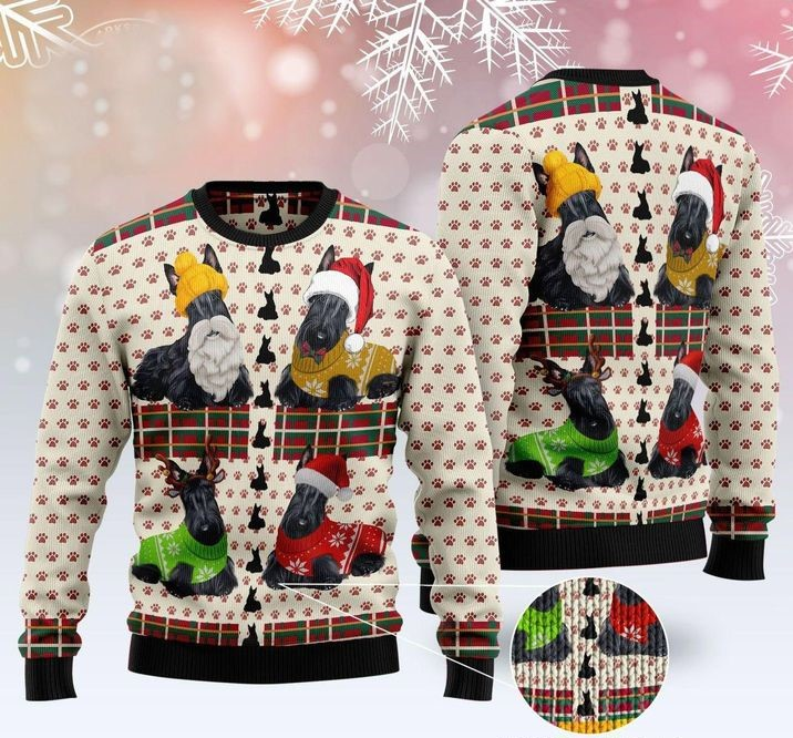 scottish full printing christmas sweater 2
