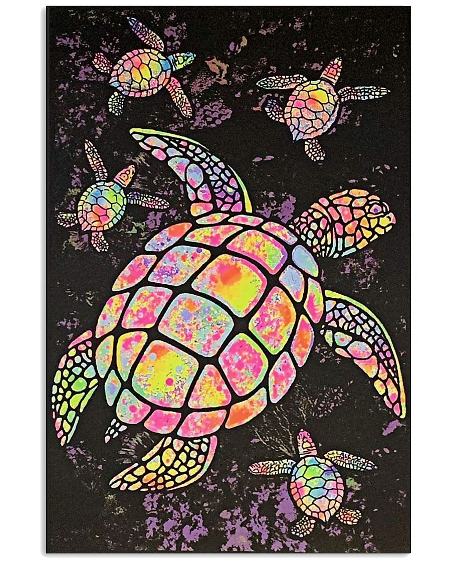sea turtle colorful paiting vintage poster 2