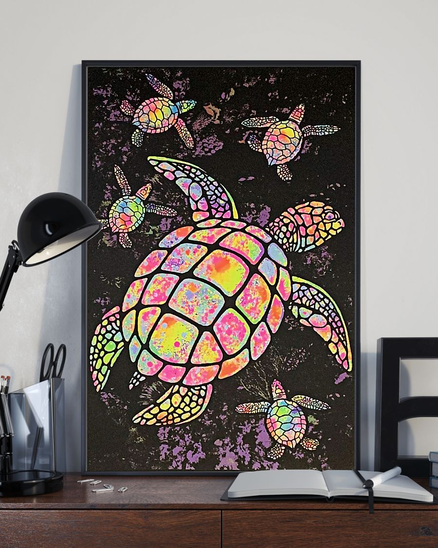 sea turtle colorful paiting vintage poster 4