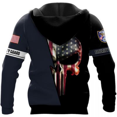security guard skull american flag camo full over printed shirt 3