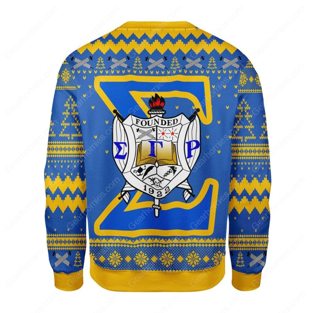sigma gamma rho 1922 all over printed ugly christmas sweater 5