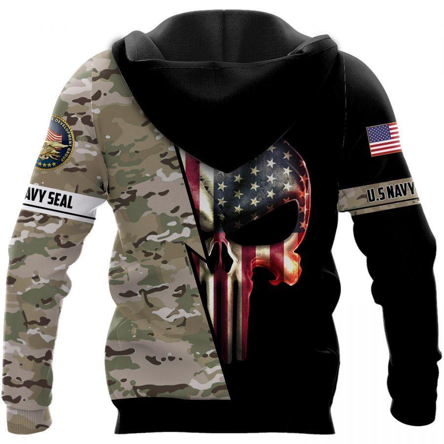 skull american flag us navy seal full over printed hoodie
