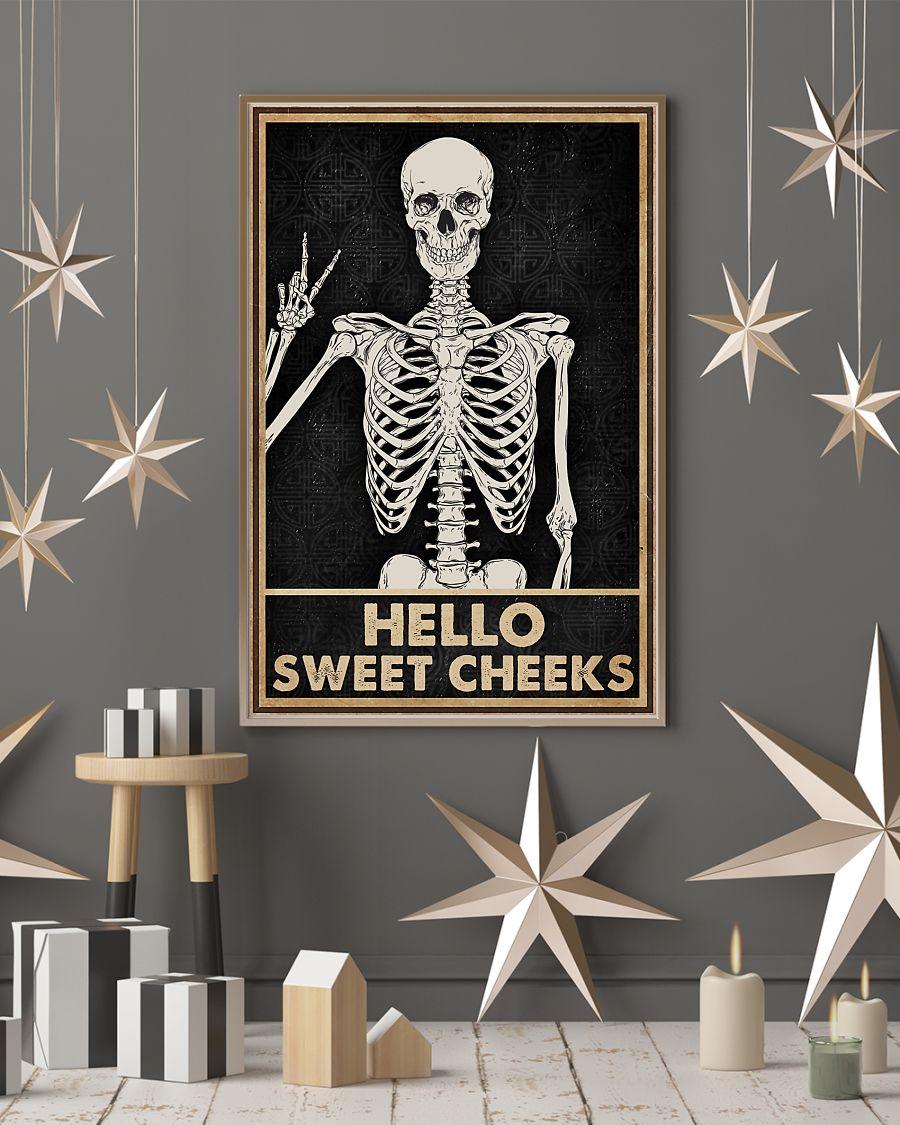 skull hello sweet cheeks vintage poster 3
