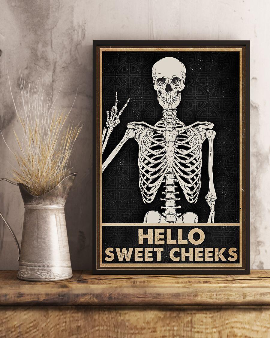 skull hello sweet cheeks vintage poster 4