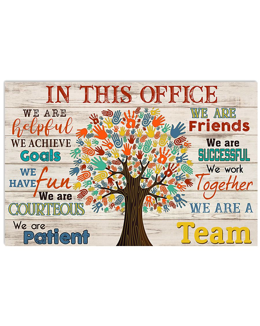 social worker in this office we are a team poster 1