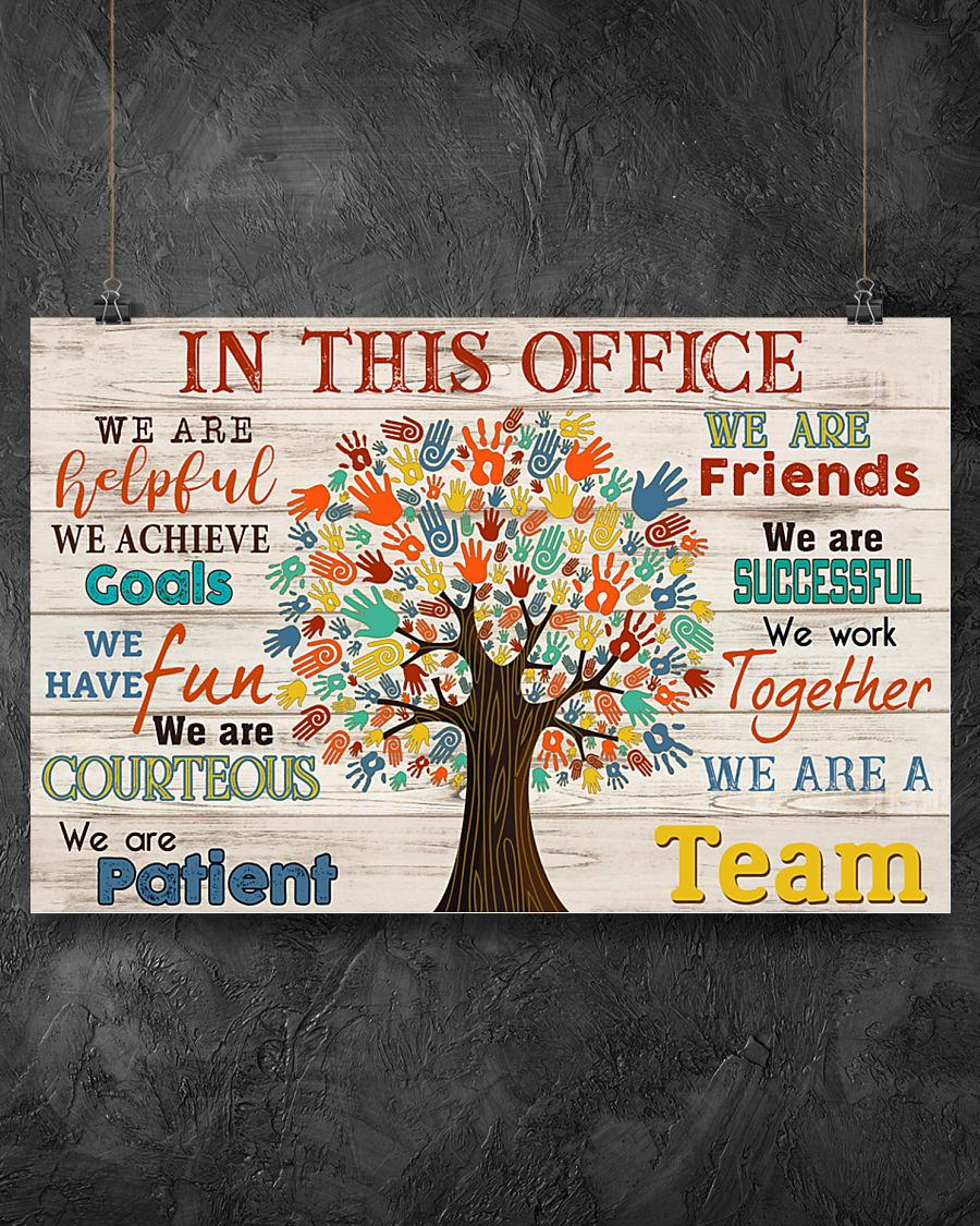 social worker in this office we are a team poster 2