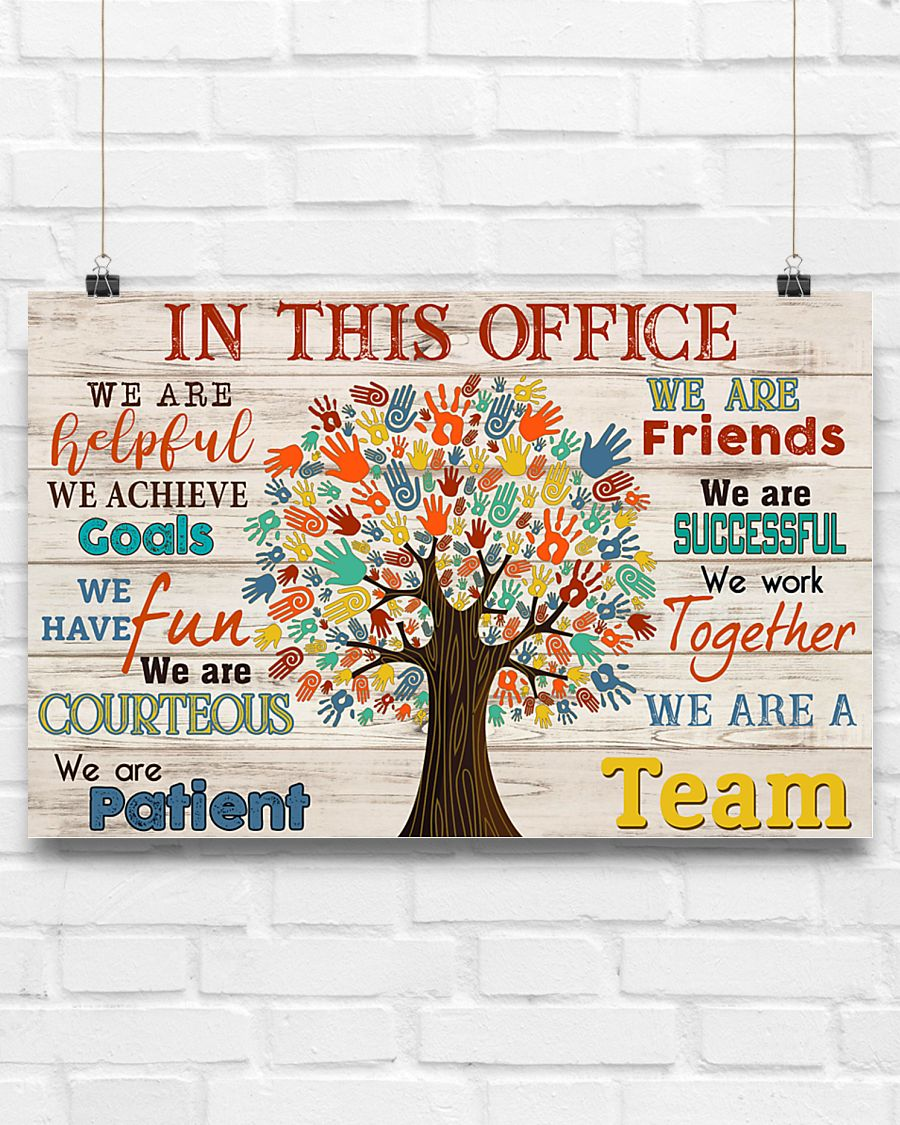 social worker in this office we are a team poster 3