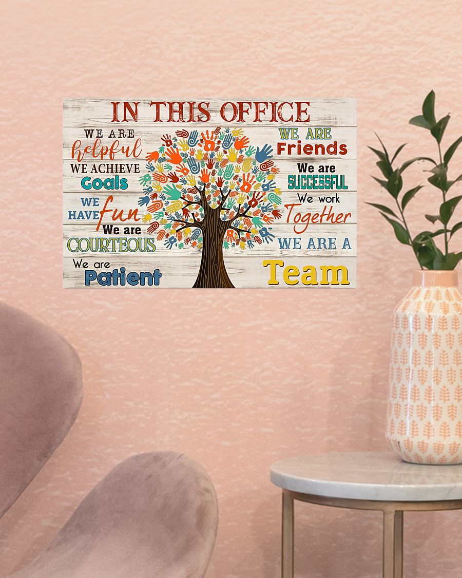social worker in this office we are a team poster 4