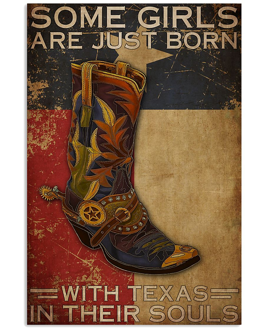 some girl are just born with texas in their souls vintage poster 1