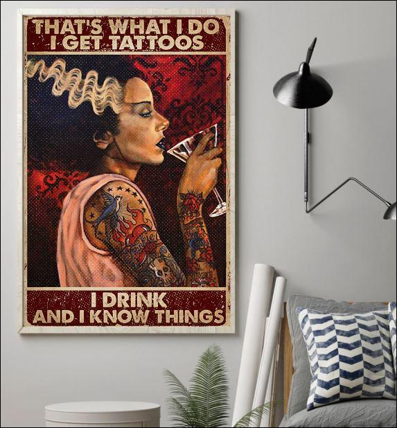 thats what i do i get tattoos i drink and i know things vintage poster 3