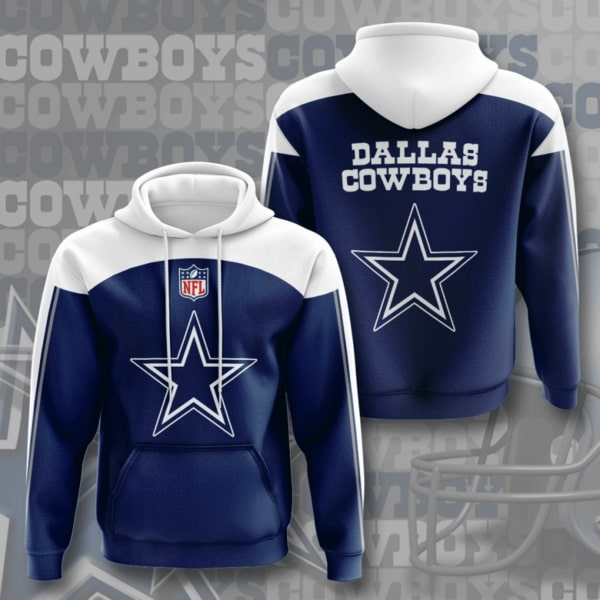 the dallas cowboys football team full printing hoodie