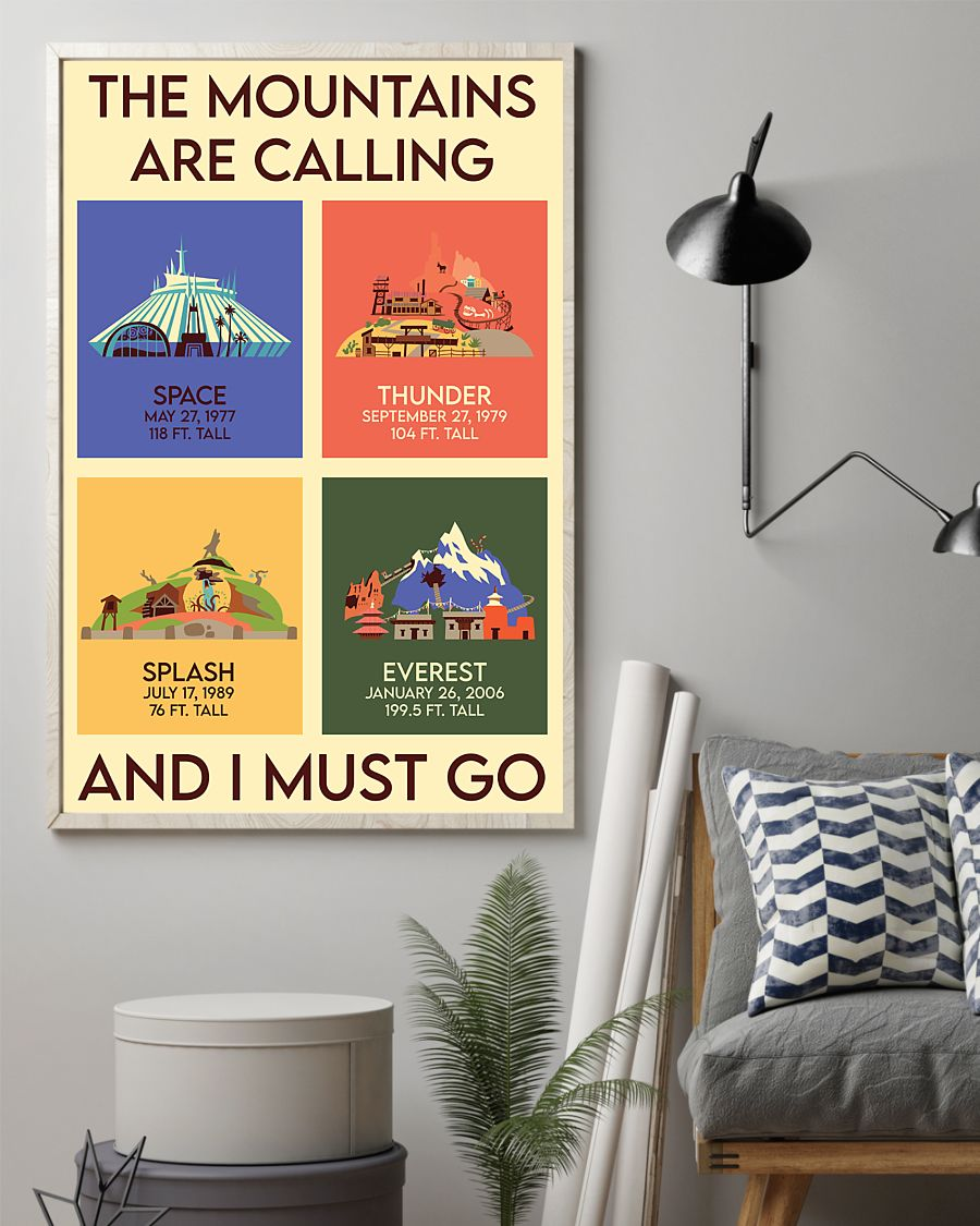 the mountains are calling and i must go vintage poster 2